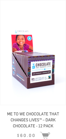 ME to WE Chocolate that changes lives - Dark Chocolate - 12 Pack