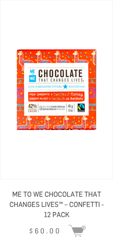 ME to WE Chocolate that changes lives - Confetti - 12 Pack